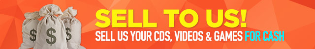 SELL TO US! Sell us your used CDs, Movies, and Games FOR CASH